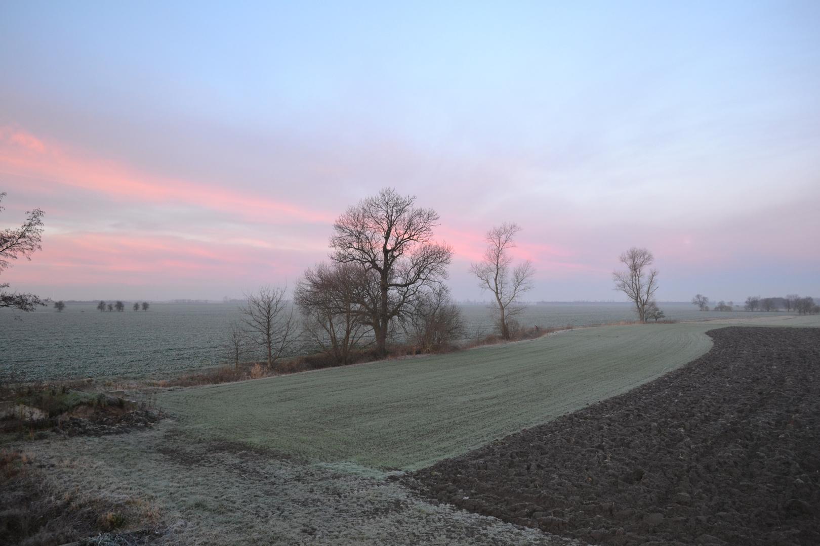 Frostiger Morgenhimmel