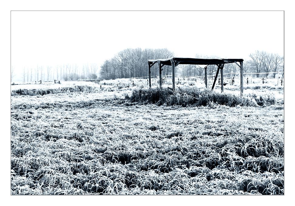 Frostiger Unterstand