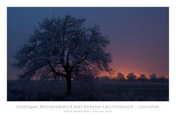Frostiger Winterabend