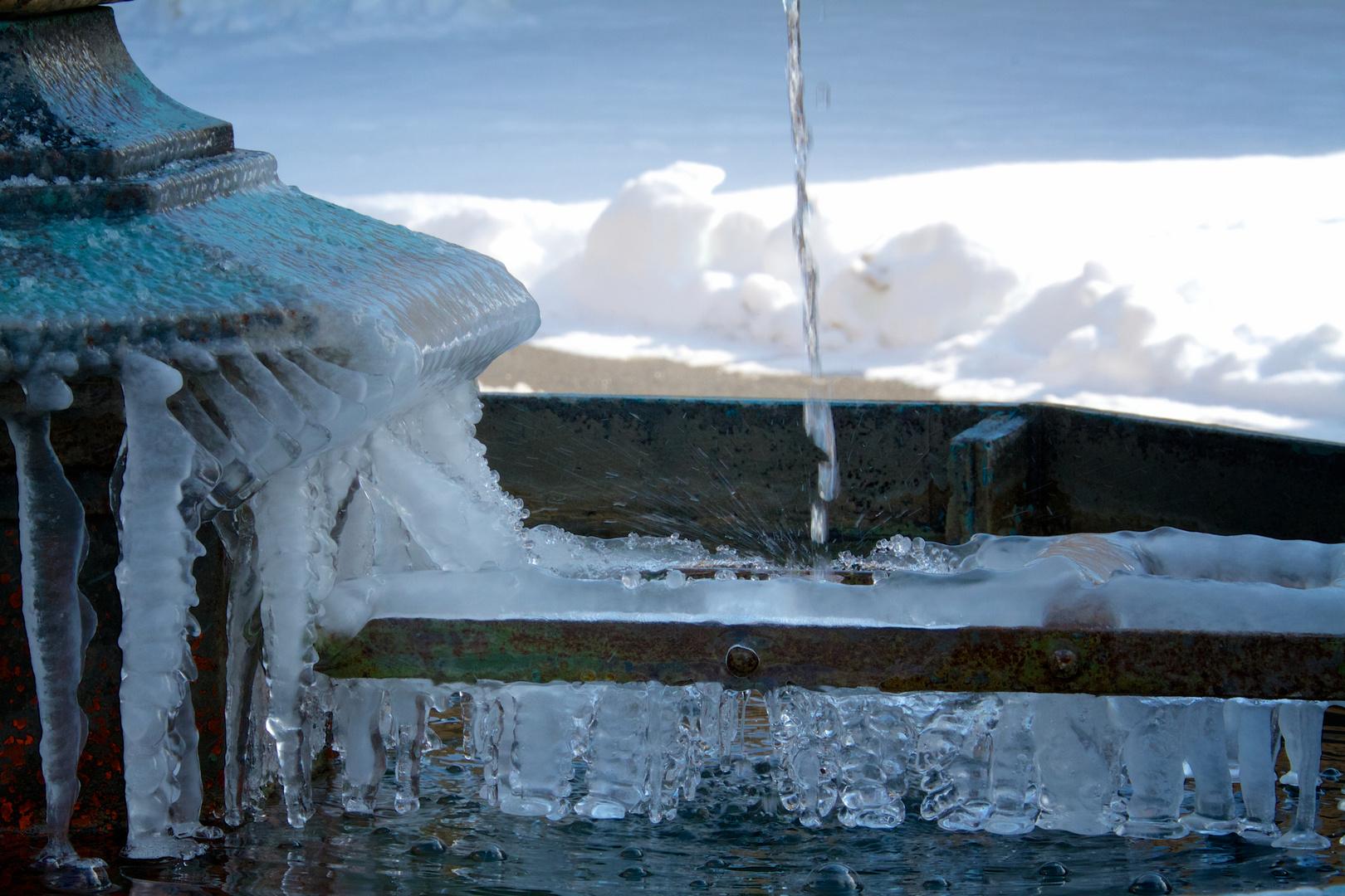 Frosty fountain