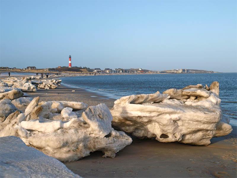 Frozen beach - Sylter Eisberge am Strand