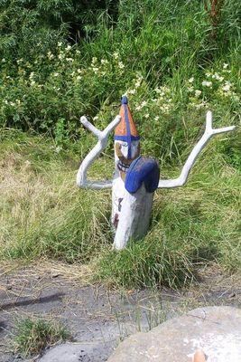 Fruchtbarkeits-Gott in einem Wikingerdorf in Bork Haven