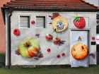 Fruchtige Wand