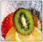 Früchte im Frischeregen
