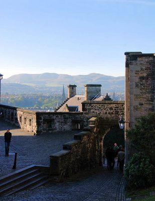 Früh am Morgen auf der Burg