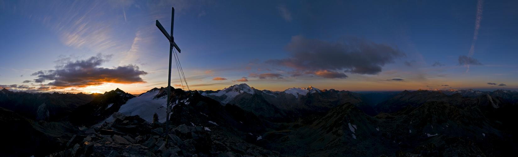 Früh am Morgen auf der Dreieckspitze...