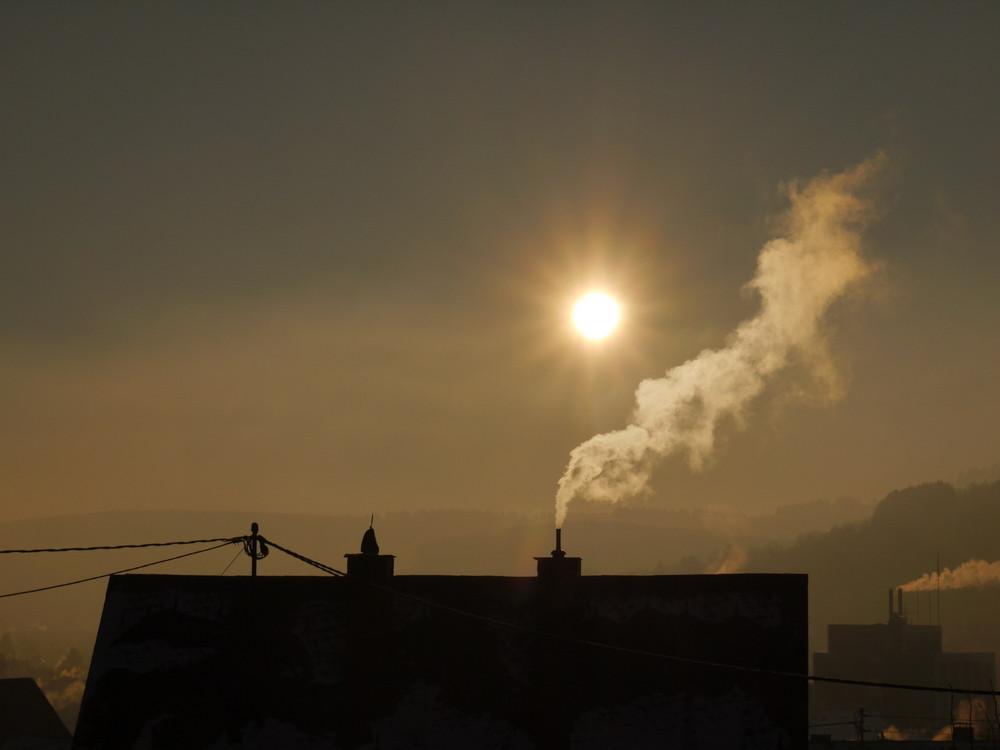 Früh am morgen über den Dächern Neunkirchens!