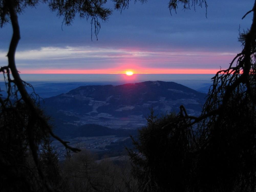 Früh morgens am Berg