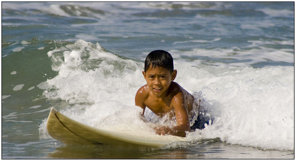 früh übt sich (in Padma Beach/ Kuta Bali)