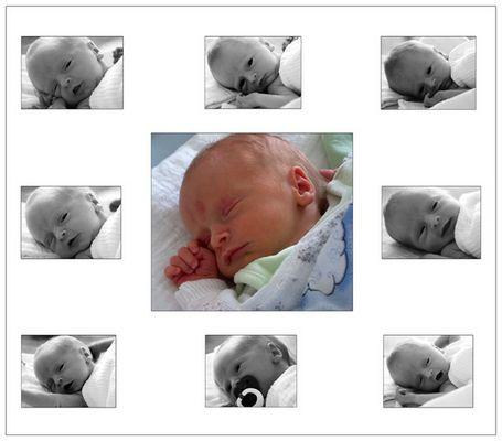 Frühchen Luke als er 2 Wochen alt war