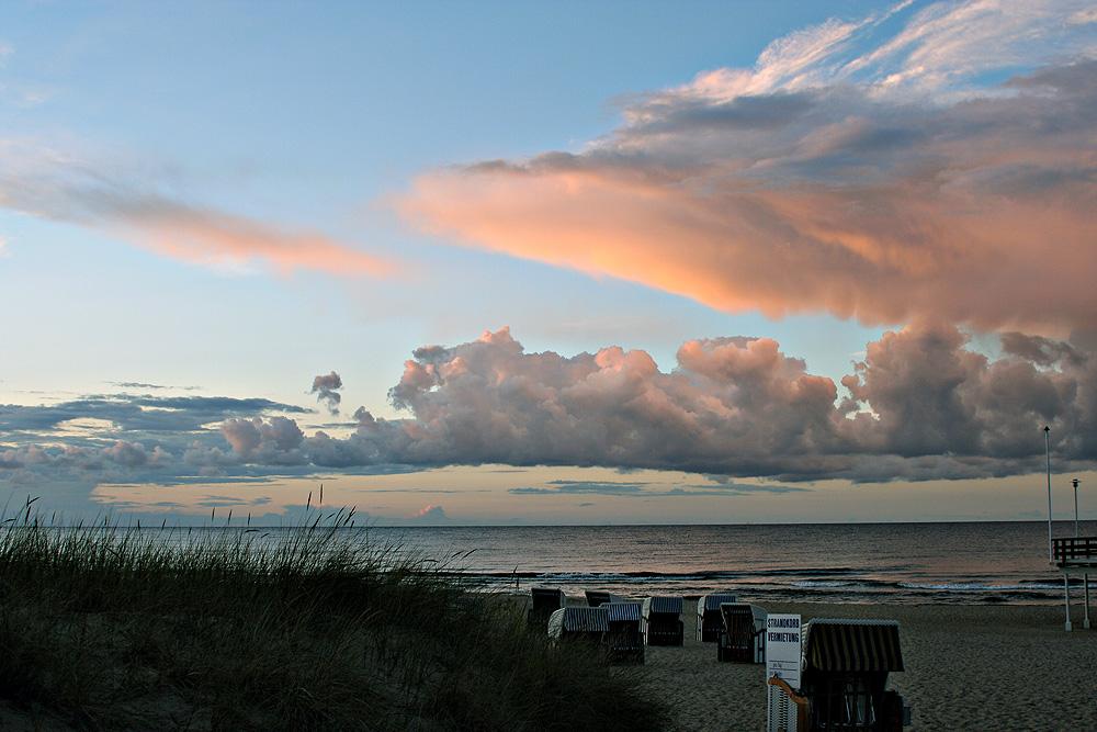 früher Abend am Strand ...