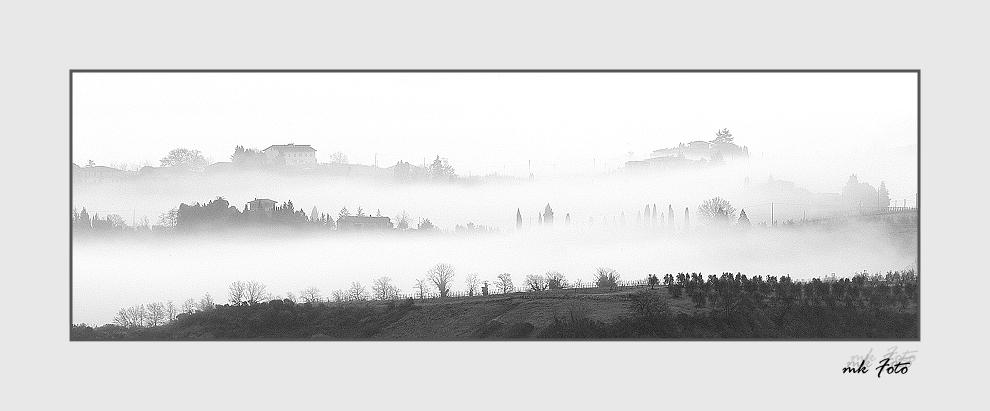 Früher Morgen in der Toscana