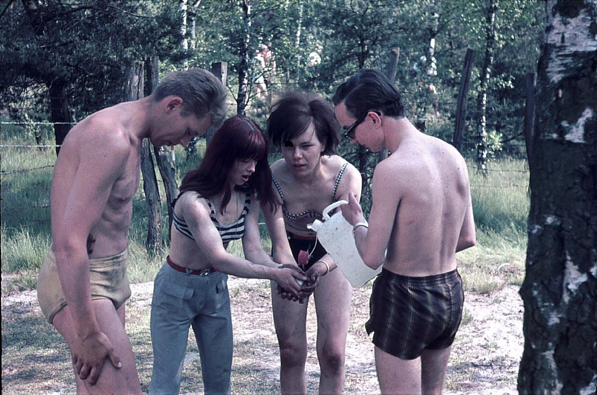Früher war Wasser auf manchen Campingplätzen Mangelware
