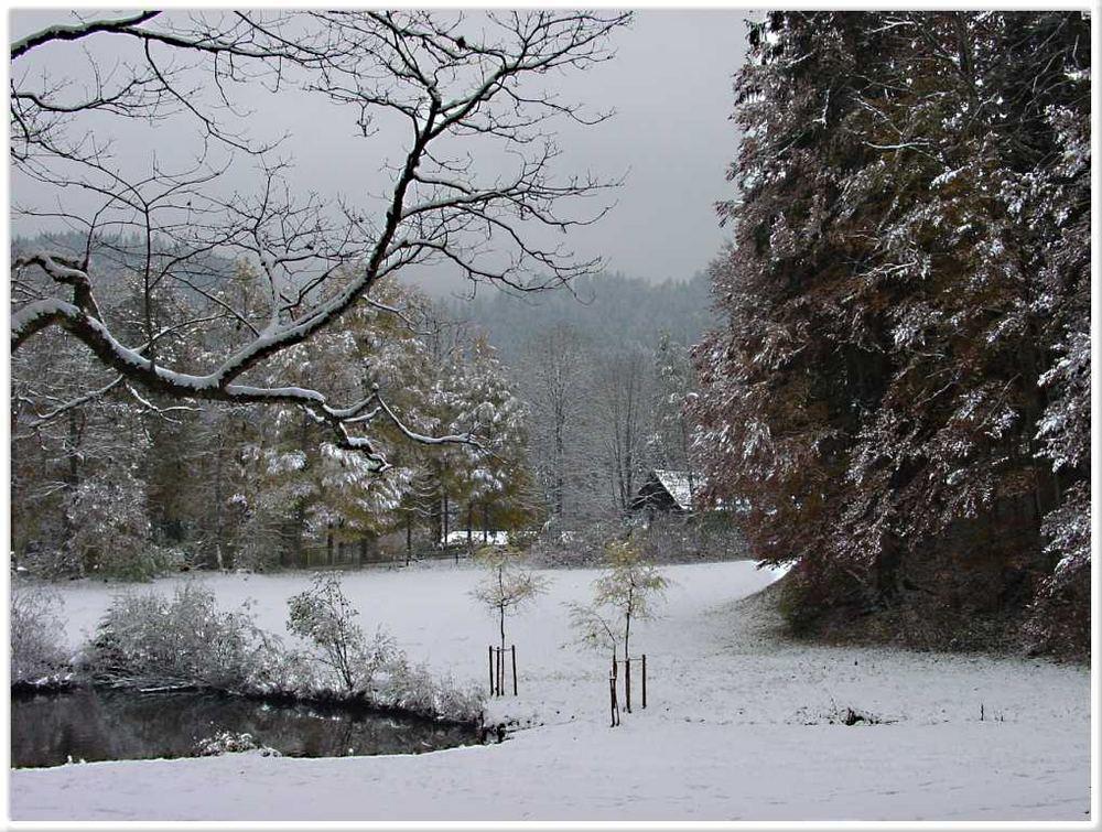 Früher Winter im Ettal