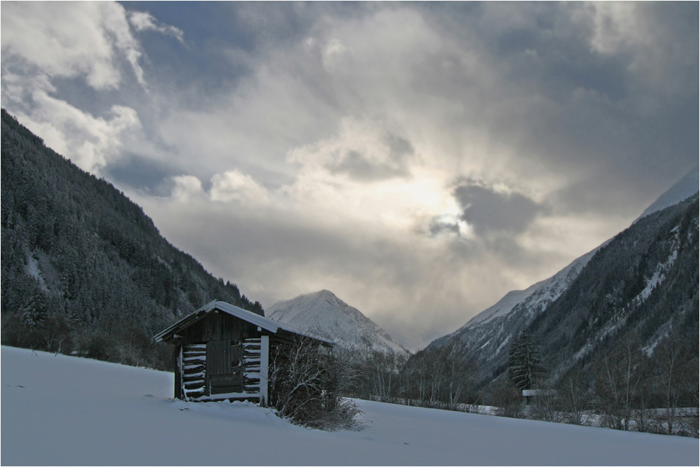 früher Winter im Stubaital 12.11.07