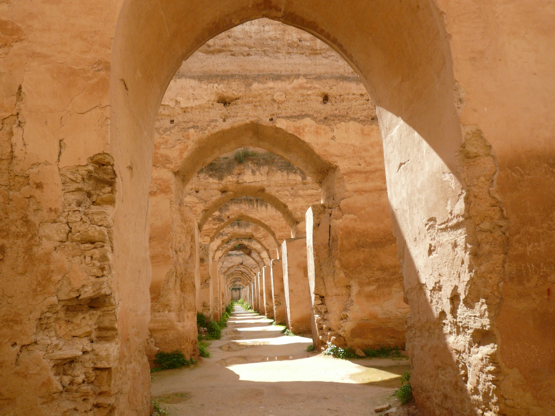 Frühere Pferdeställe in Meknès
