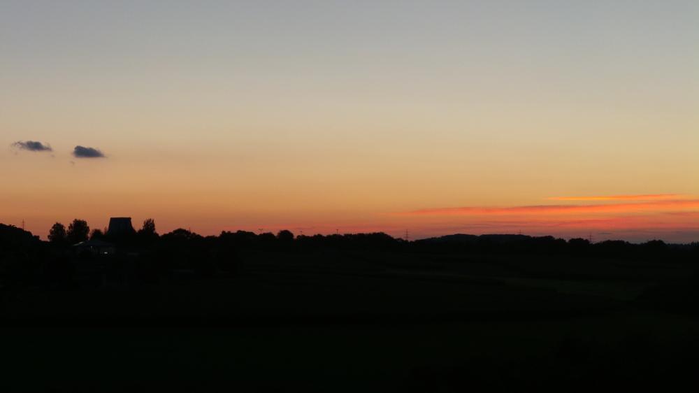 früherer ANT-Turm im Sonnenuntergang...