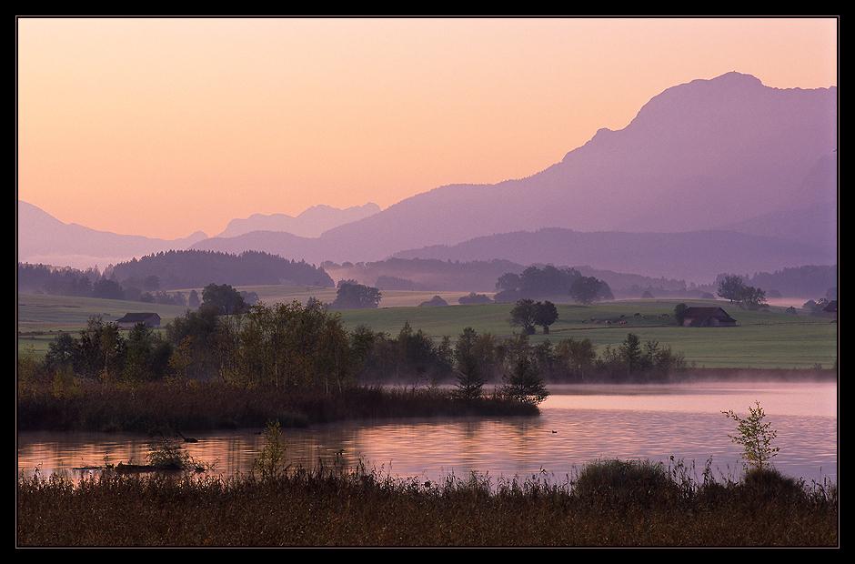 Frühherbstlicher Morgen am Riegsee