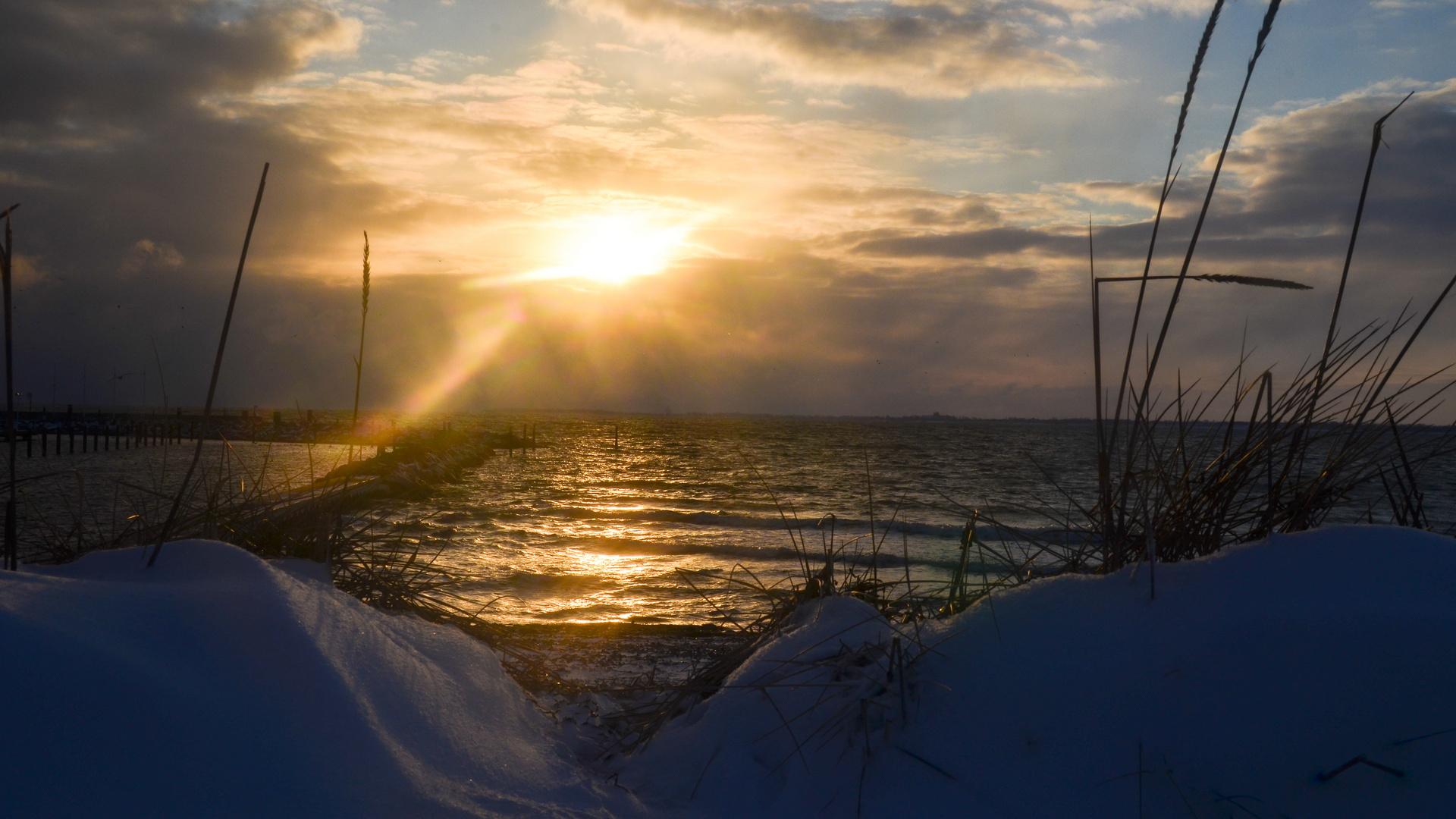 Frühjahrsmorgen am Ostseestrand