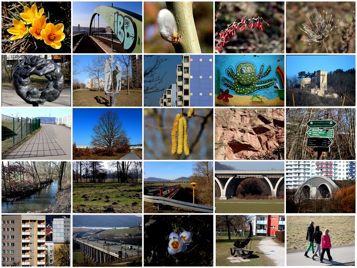 Frühjahrsspaziergang durch Jena Lobeda West