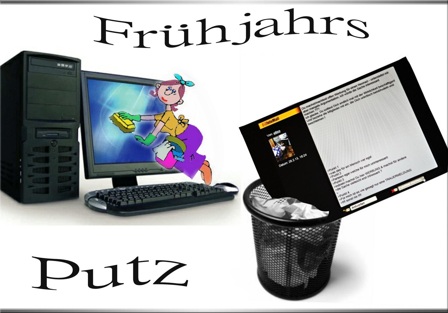 Frühjoahrsputz uff ......Südhessisch !!!!
