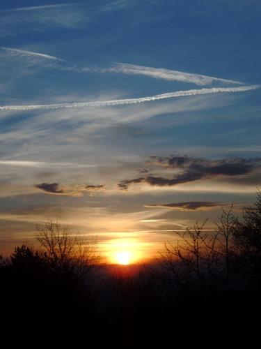 Frühlings-Sonnenuntergang