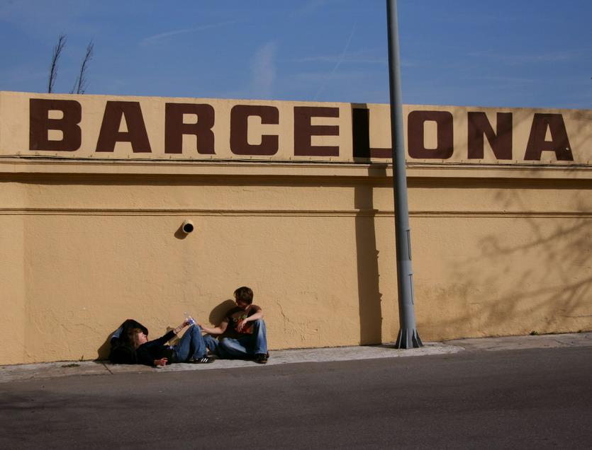 frühlingshafter sonnenschein über barcelona