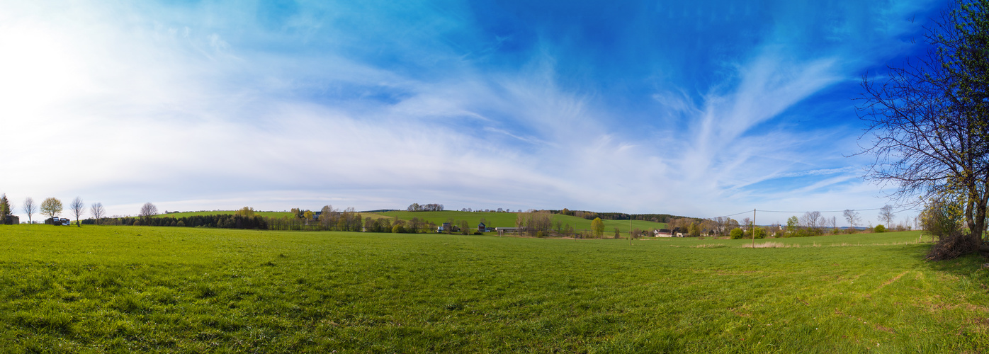 Frühlingspanorama Im Erzgebirge