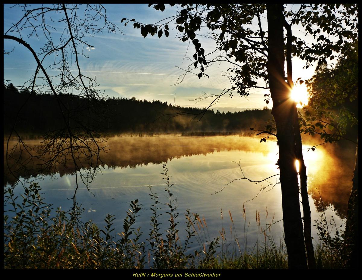 Frühmorgens am Schießlweiher
