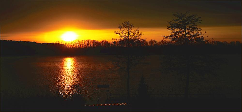 Frühmorgens am See…,