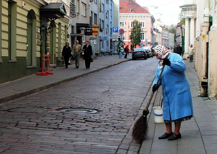 Frühmorgens in Vilnius