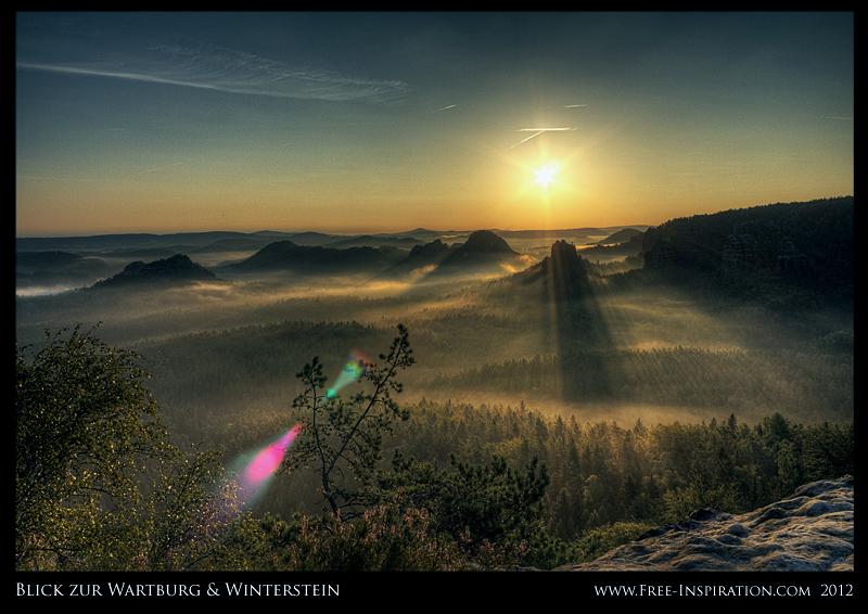 Frühnebel in der Sächsischen Schweiz