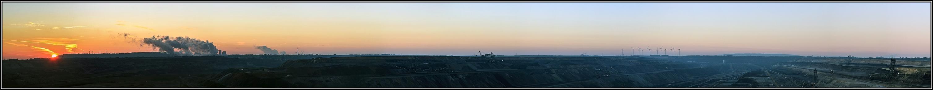 Frühschicht im Tagebau
