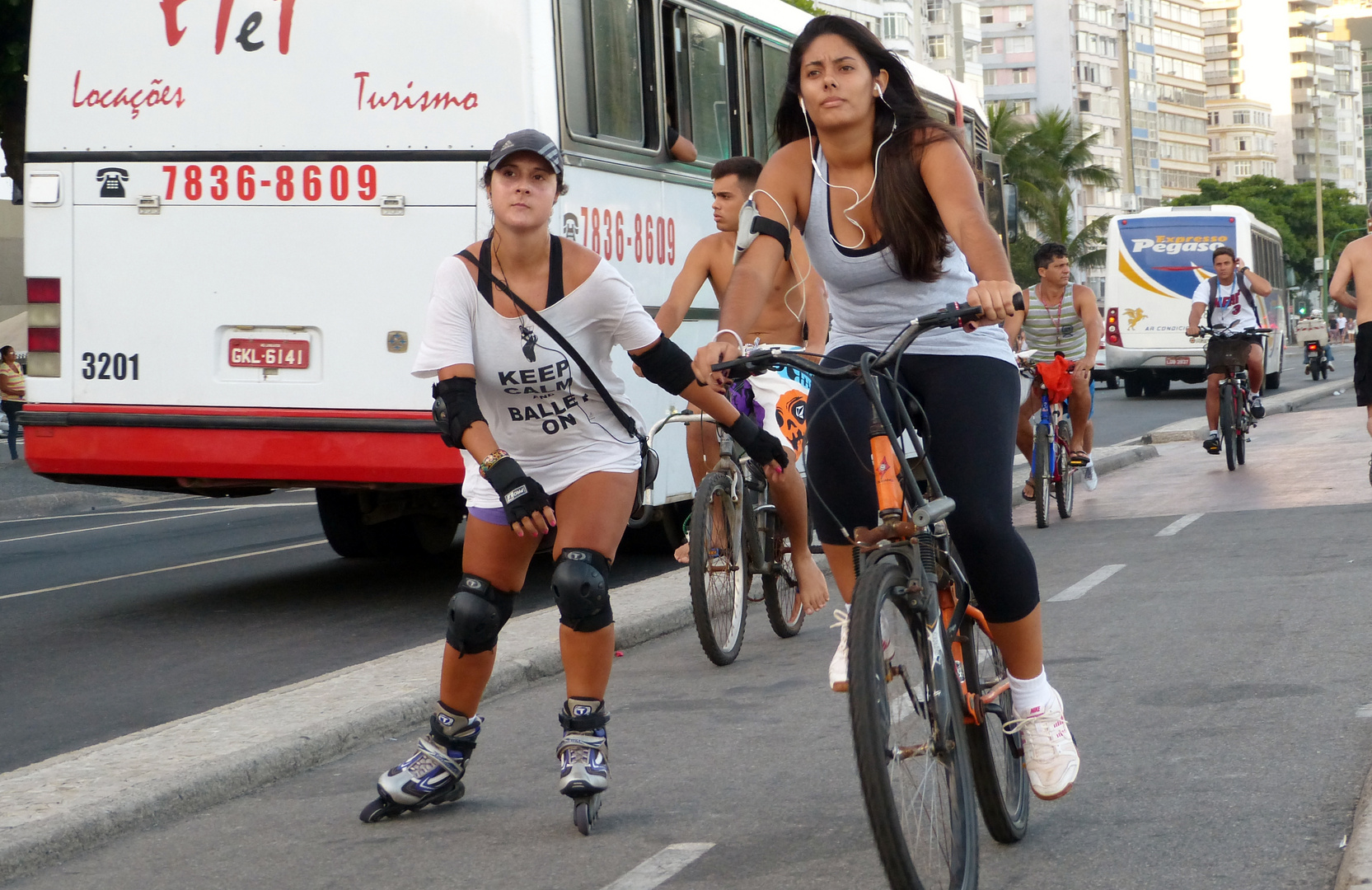 Fruehsport in Rio ...