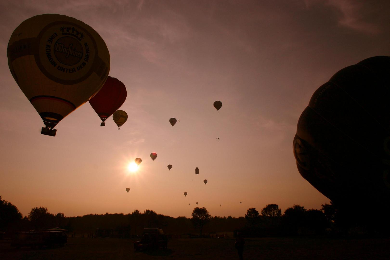 Frühstart der Ballone