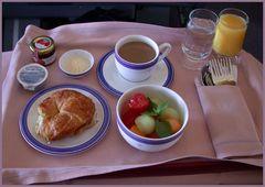 Frühstück bei Singapore Airlines