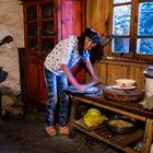 Frühstück-Fladen Zubereitung im Naxi GH