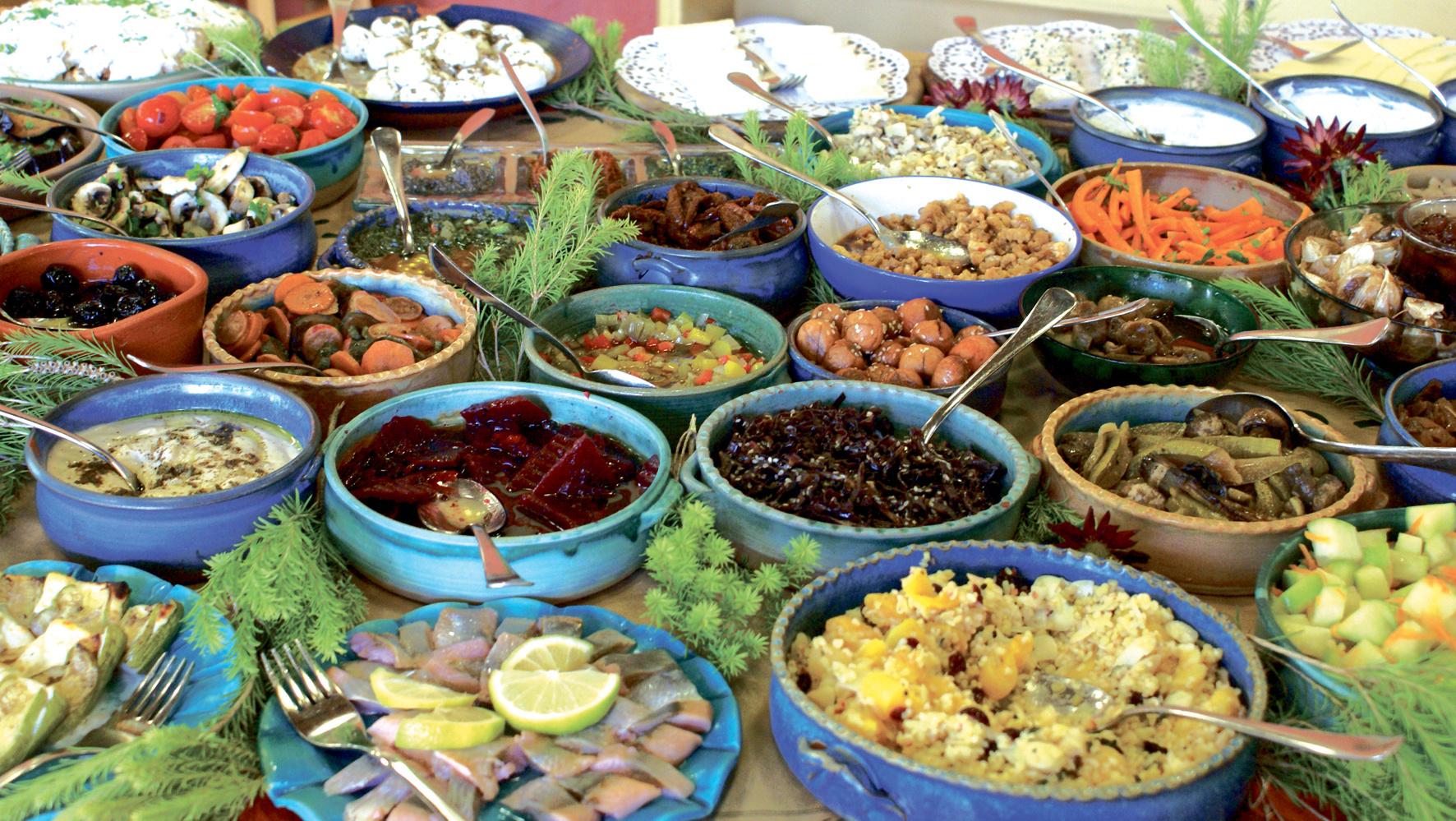 Frühstück im Kibbutz