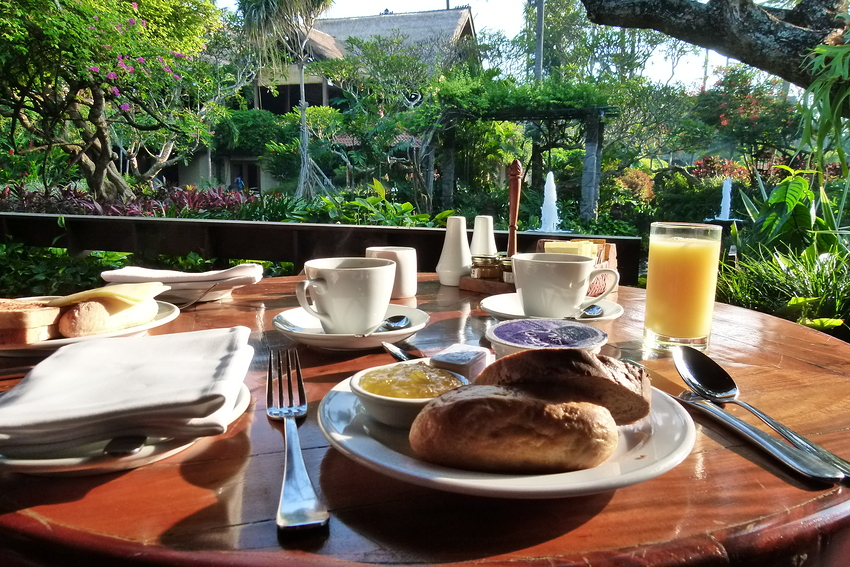...Frühstück im Paradies...