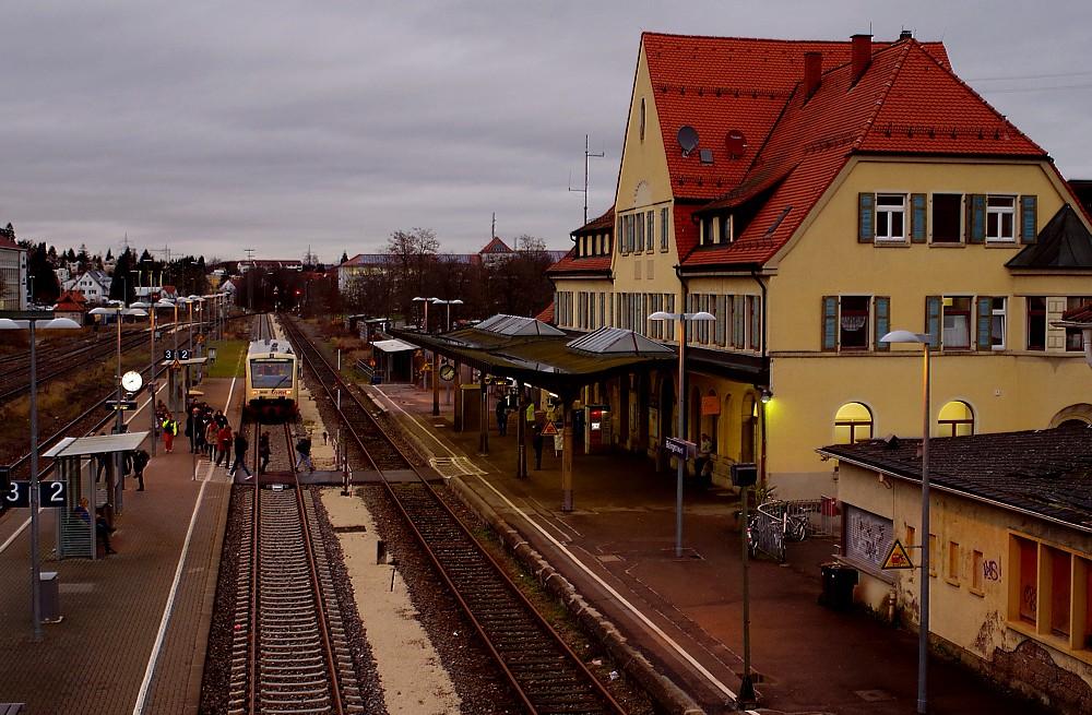 Frühzug nach Tübingen