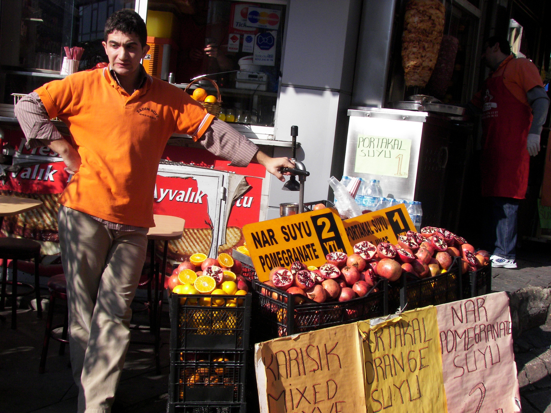 Fruit salesman