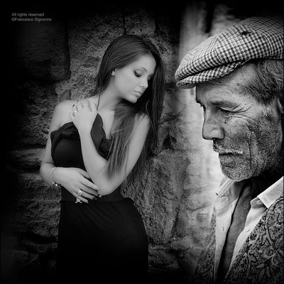 ©F.S. The old man and the young girl