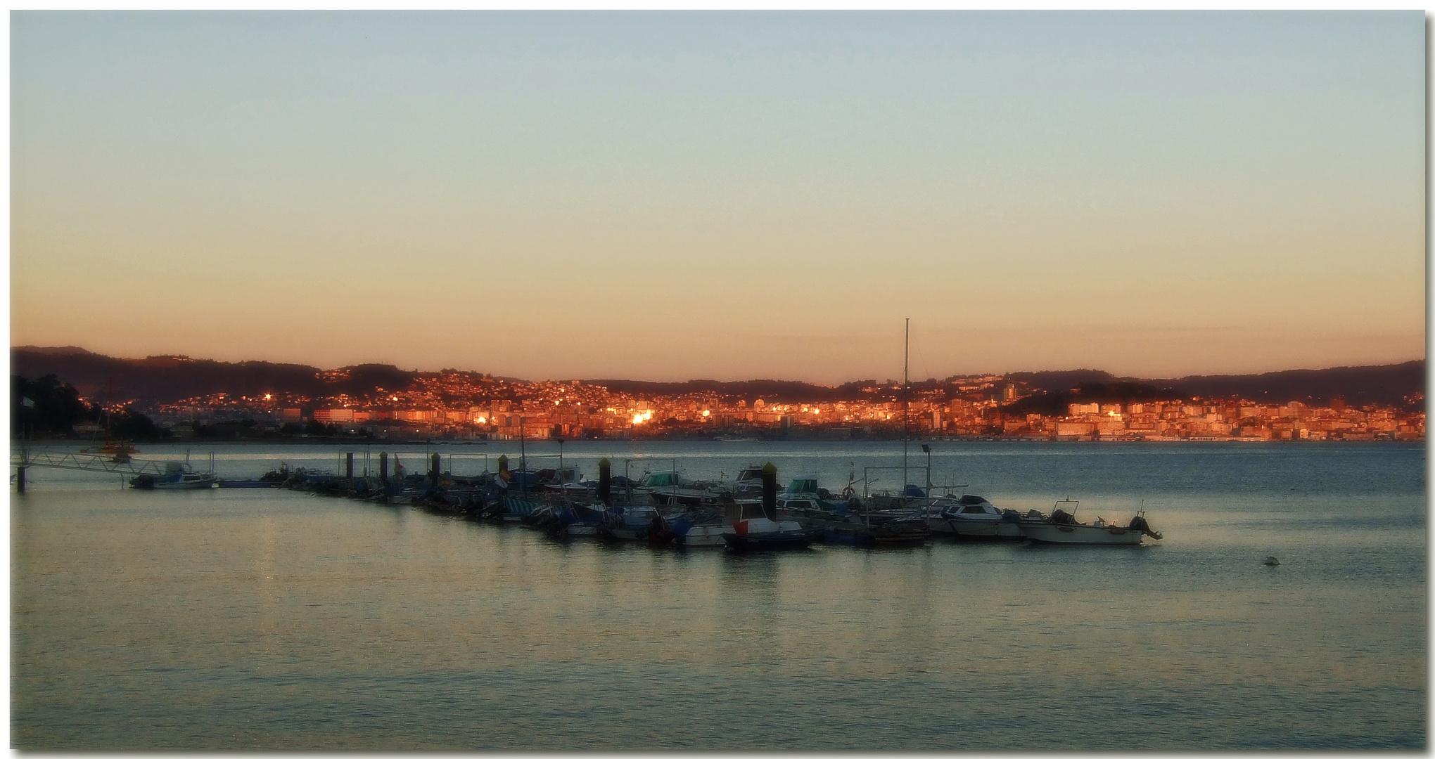 Fuego de poniente sobre Vigo
