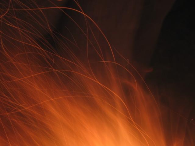 fuego en llamas..