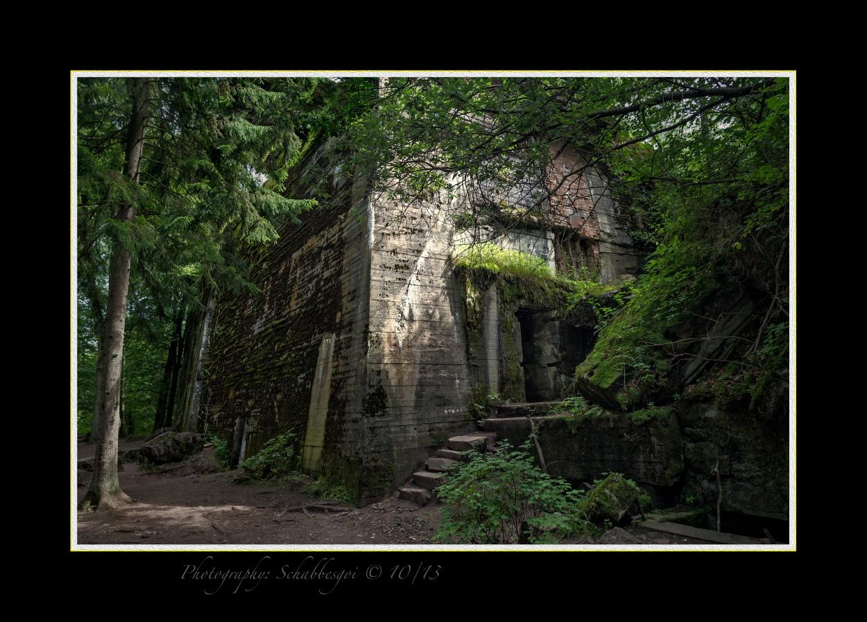 Führerhauptquartier Wolfsschanze  ( FHQ )  Der Bunker Hitlers