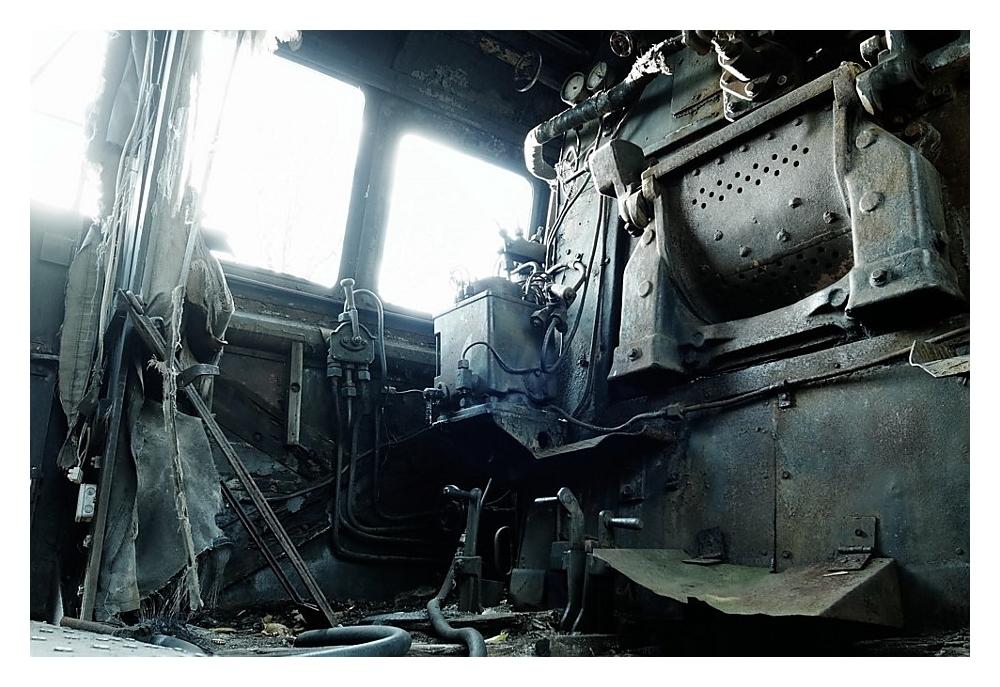 Führerhaus einer Dampflokomotive