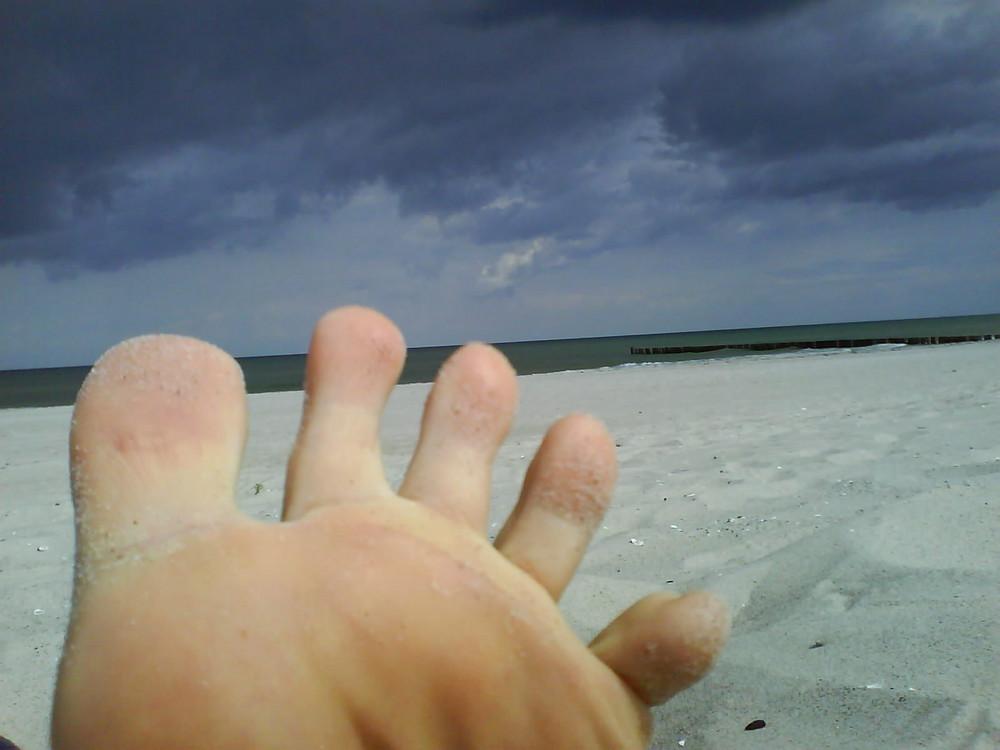 Fünf am Strand
