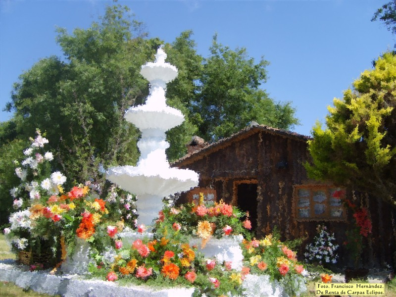 fuente floral