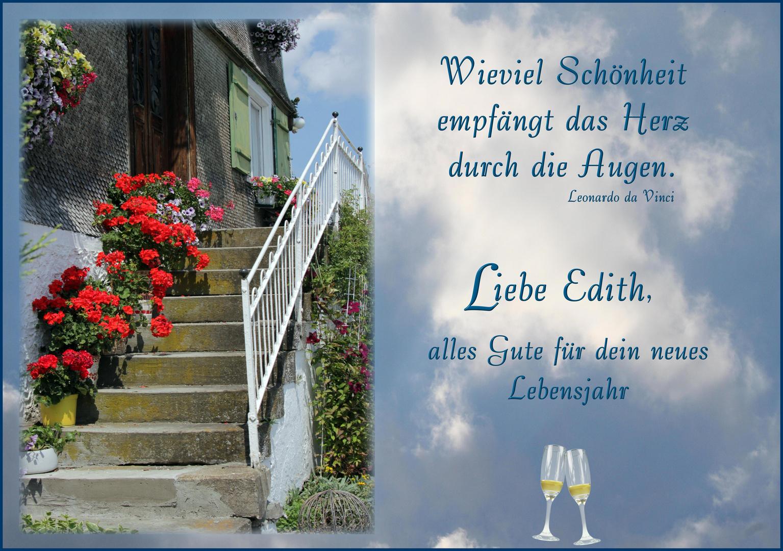 Für dich liebe Edith