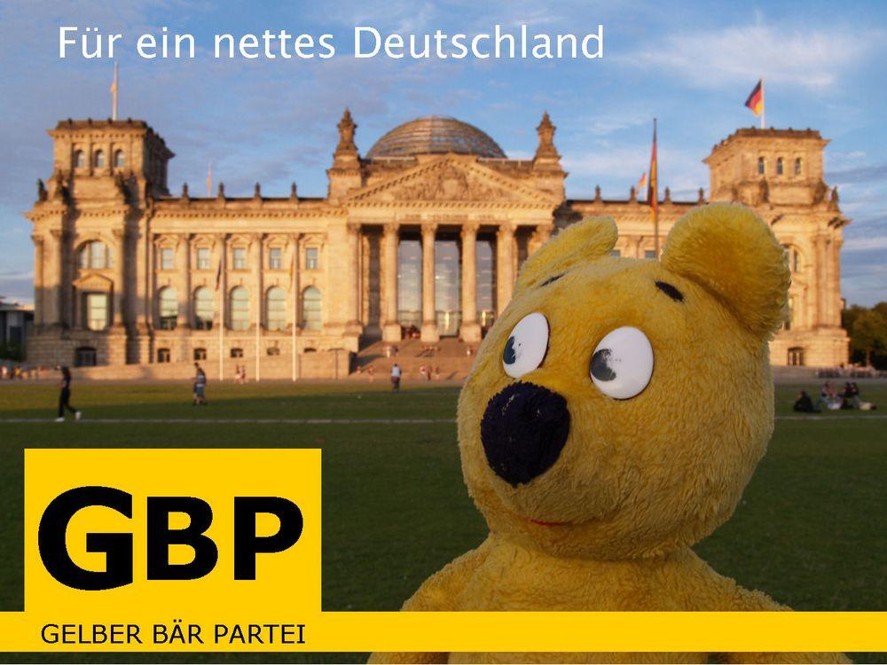 Für ein nettes Deutschland - Der gelbe Bär
